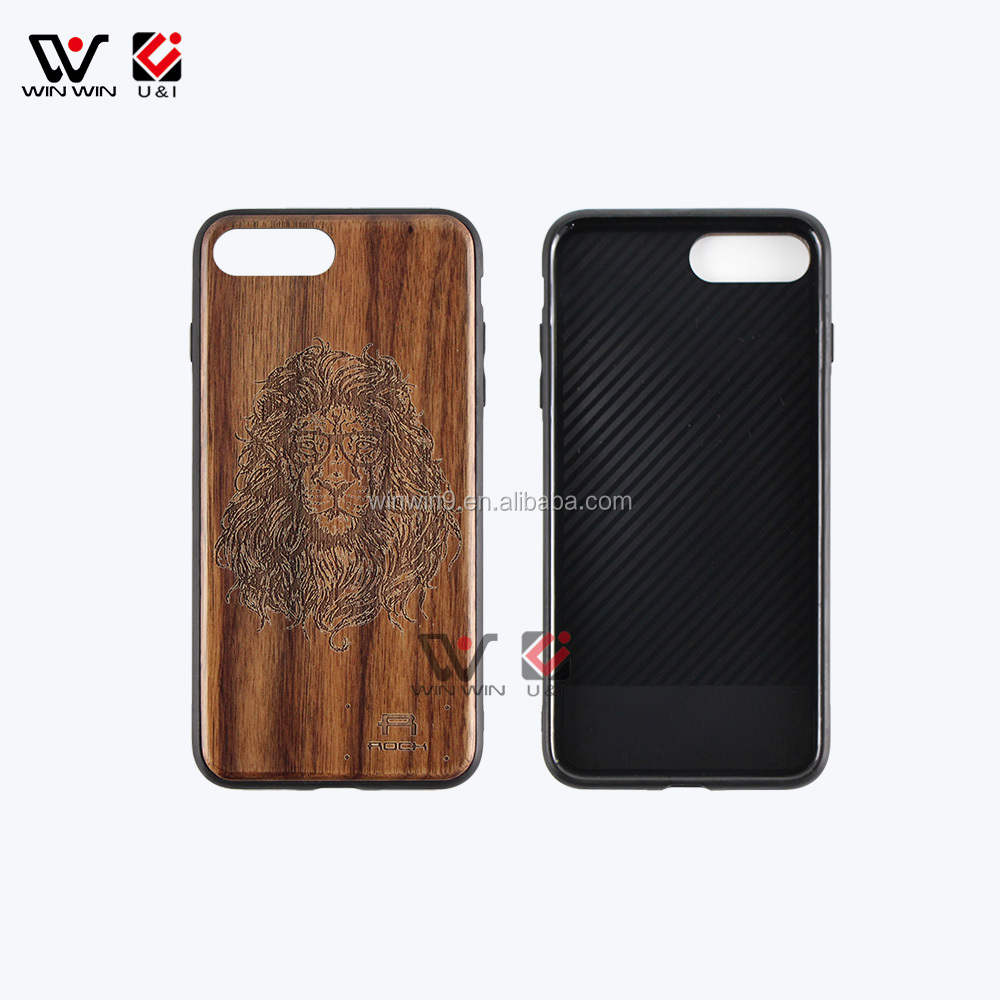 Handmade natural 100% wooden phone case for iPhone 8 , custom logo wood case for iPhone 8 ,mobile phone accessories