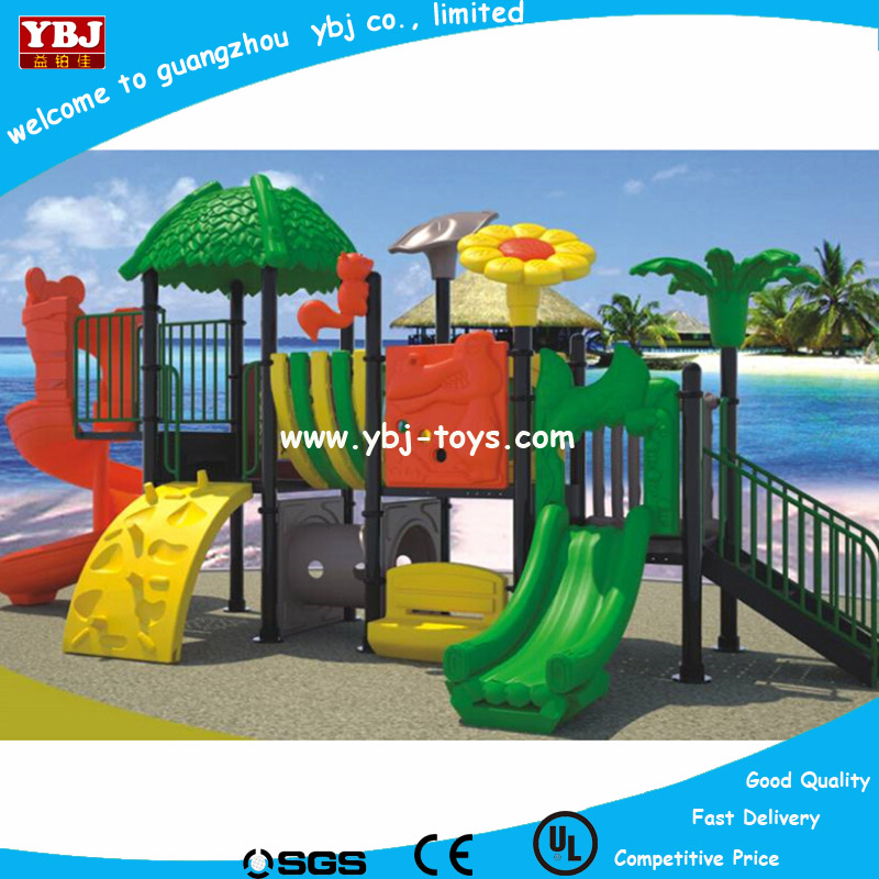 2016 lastest village-style plastic outdoor playground slide with 21 optional site sizes