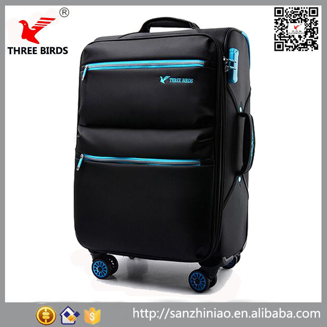 Top selling 4 wheels spinner rolling luggage custom president soft eva trolley suitcase alibaba China