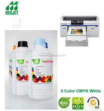vivid color b2b china cmykw textile pigment refill ink for epson surecolor f2000 printer cotton polo tshirt