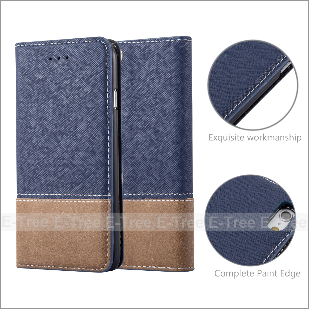 Fresh Jean Series PU Leather Buckle Case Soft Tpu Case Inside Cover For Apple iPhone 6