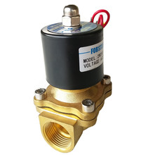 Natural gas shut off two ways solenoid valve