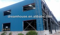 Prefabricated construction design light steel structure fabricated warehouse building use for factory shop store