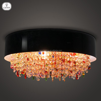 Caren European style vintage colorful crystal dining room living room ceiling lamp