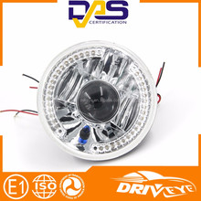 New design halo 7 inches led headlight with white SMD ring