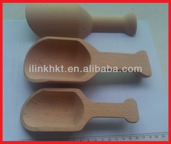 Durable Pet Food Wooden Scoop