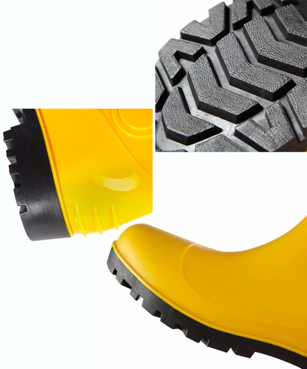 garden waterproof PVC rain boot safety boots