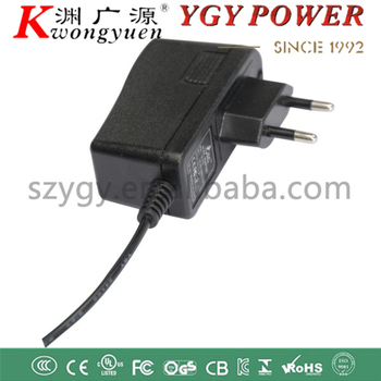 high efficiency 12V1A power adapter with security certification
