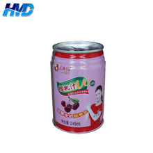 211x309 empty round 3-pc Beverage can for cherry juice