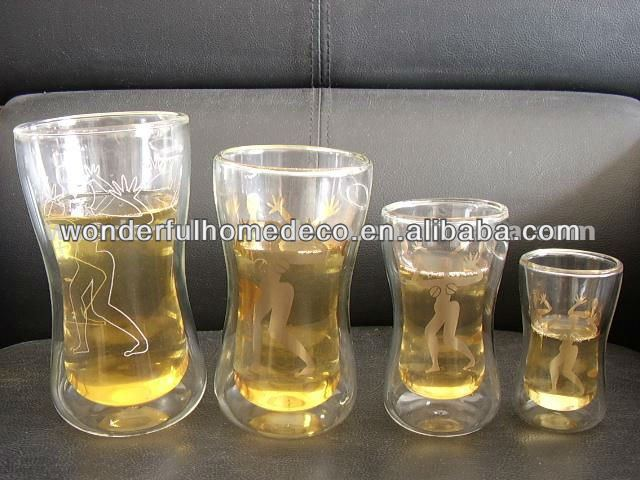 Double wall advertising tumbler/drinking water glass tumblers