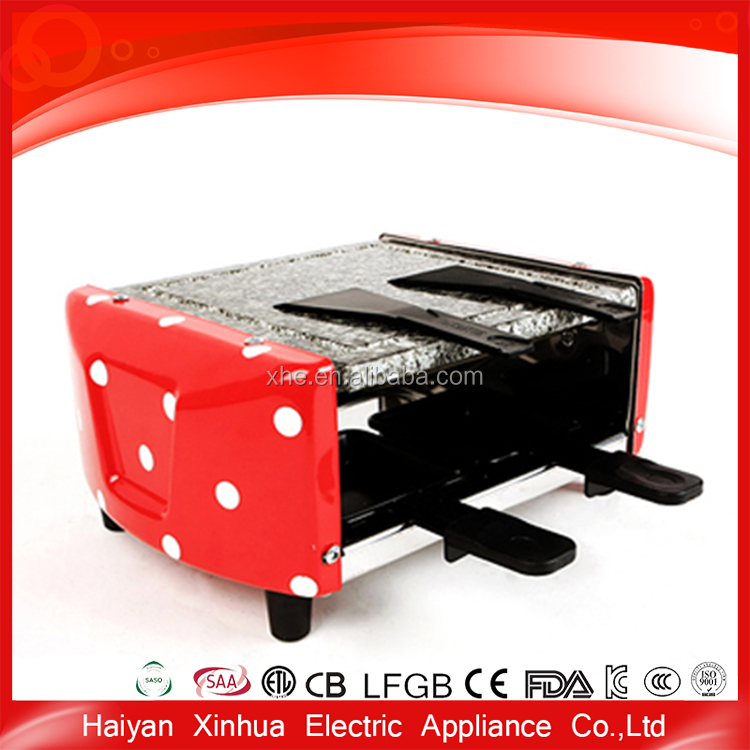 Aluminum electric raclette portable red stone grill