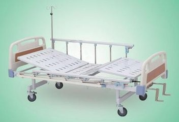 Applied two crank manual hospital bed/good quality Sickbed/low price hospital bed
