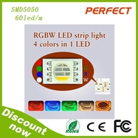 promotional sale !SMD5050rgbw led strip with 12vDC,,72w 60leds/meter,solar powered led strip lights