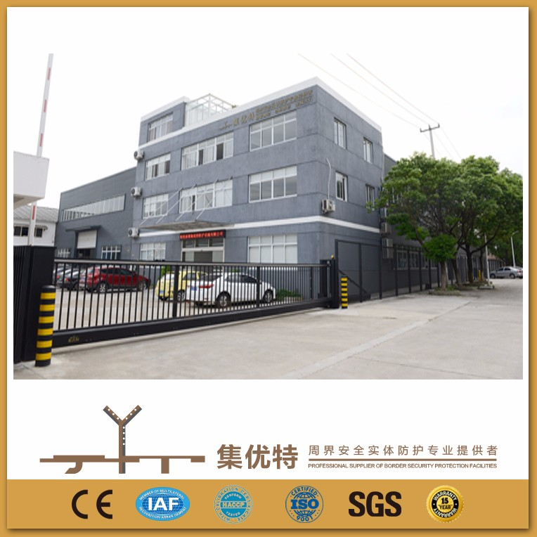 New design applied for factory electric trackless metal sliding gate design