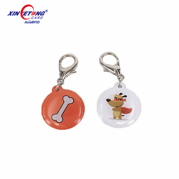 Factory supply waterproof MF 1K epoxy RFID tags for animal management Xinyetong manufacturer