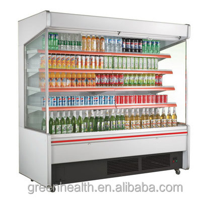 Green&Health convenience store equipment coke beverage display cooler used open chiller factory direct sale