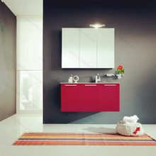 Red Corner Bathroom Vanity Units for Small Bathrooms