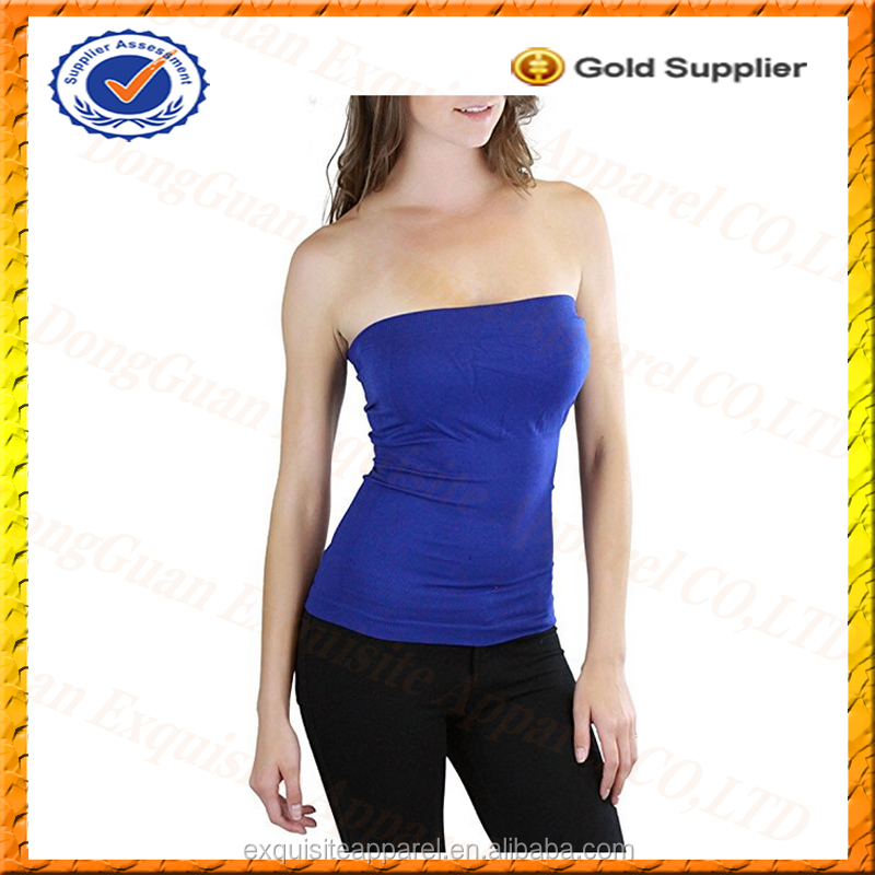 Custom Sexy Tube Top Women's Seamless Tube Top Without Pad Slim Fit Clubwear Party Tube Top Wholesale