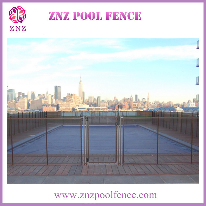ZNZ trade assurance OEM factory high quality portable security aluminum top security pvc privacy horizontal fence