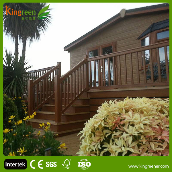 Hot sale wood plastic handrails railing for outdoor deck for Garden decking for sale