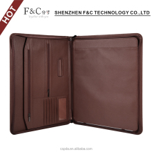 High quality zipper Leather Case for ipad pro 12.9