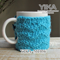 Fancy cup with knitting for festivals