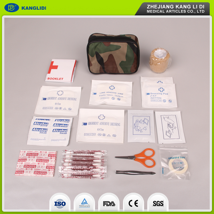 KLIDI Hot Style Sophisticated Technology Full Set Medical Emergency First Aid Kit Contain Wound Dressing