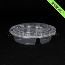 Plastic Disposable Compartment Lunch Box 3 Compartments Clear Plastic Box