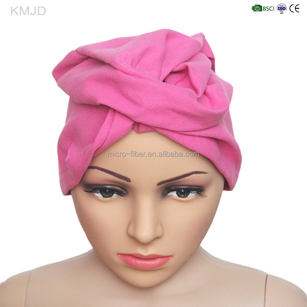 Compact quick dry suede absorbent hair towel