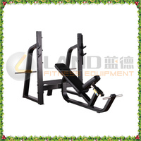 LAND Brand indoor commercial fitness equipment/LD-9042 Olympic incline press bench