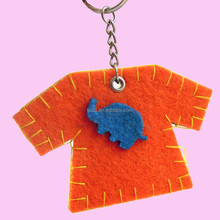 beautiful clothes kids gift felt keychains