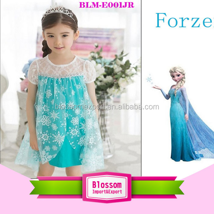 Baby Dress Cap Sleeve Lace Dress Frozen Elsa Dress Wholesale