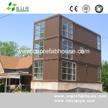 20ft ISO flat packed prefab container hotel model