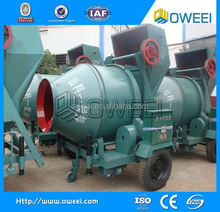 super quality China manufacture portable concrete mixer with plastic drum with lifting ladder