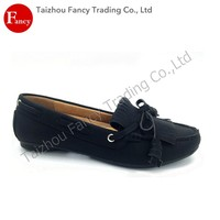 European Style Design Slip-On Ladies Leather Soles Wholesale Flat Brand Name Shoe