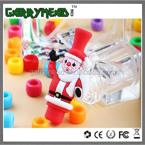 2016 Newest Santa Claus PVC Drip Tips 510 Resin wholesale Ceramic Drip Tips 510,510 wide bore driptip ,Mouthpiece 510 drip t