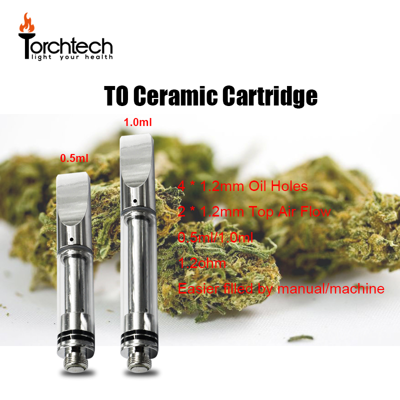 Hot Sale in US Canada Market TO Ceramic Disposable Thc Oil Atomizer Cartridge .5ml