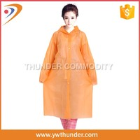 factory price disposable pe rain poncho raincoat for ladies/mens/kids
