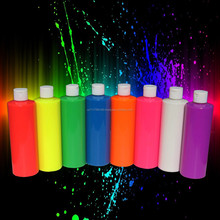 Neon body paint - UV glows under blacklight - Great for neon skin design paint - 8 colours - Super Bright
