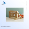 2015 Custom & Unique Shaped Luxury Wooden Desk Decorative Gift Office Calendar