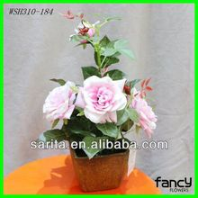 new design 5 pcs artificial flower rose potted