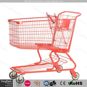 American style Hand Cart,/caddy Supermarket Shopping Trolley//shopping cart