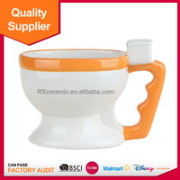 Cheap custom personalize ceramic toilet mug