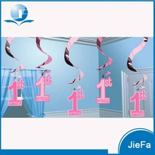 Manufacturer Party Supply Birthday Party Paper Decorations High Quality PVC Hanging Swirl