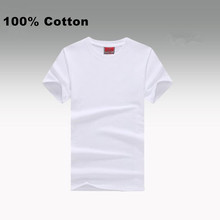 Wholesales 100% Cotton Blank White T Shirt Round Neck Men's Custom Printing T Shirts