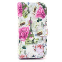 Tower design flower wallet case pouch for Samsung i9190 with stand