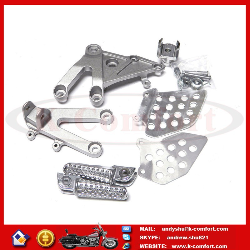 KCM619 SILVER FRONT RIDER FOOT REST PEG BRACKET REARSET FOR 2003-2006 HONDA CBR600RR