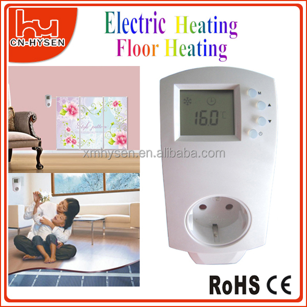 Household Room Electric Heating Socket Thermostat Plug In