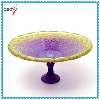 Glass Plate with Stand Colored Glass Plates