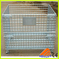 china high quality metal storage cages with 4 wheels steel storage cages